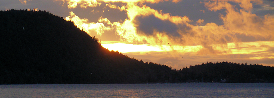 Sunrise Over Hornby Island